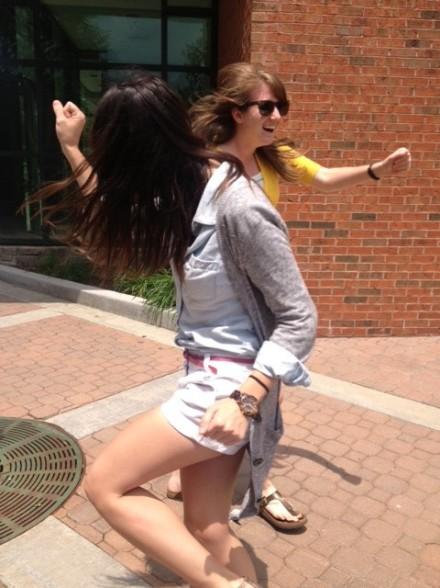 Emily & Allie Dancing